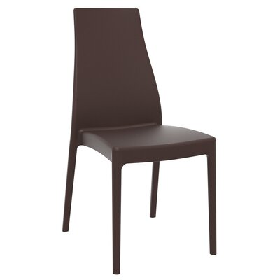 Aquila Patio Dining Chair (Set of 2) Finish: Brown