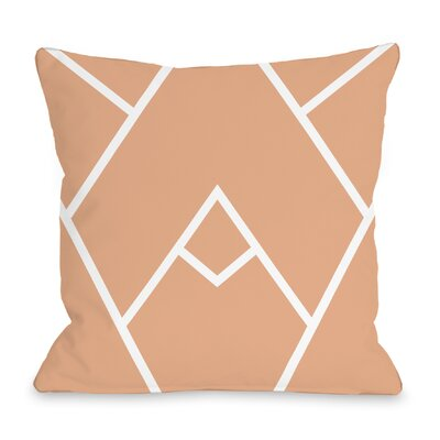 Braiden Throw Pillow Color: Cantaloupe