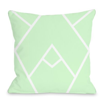 Braiden Throw Pillow Color: Mint
