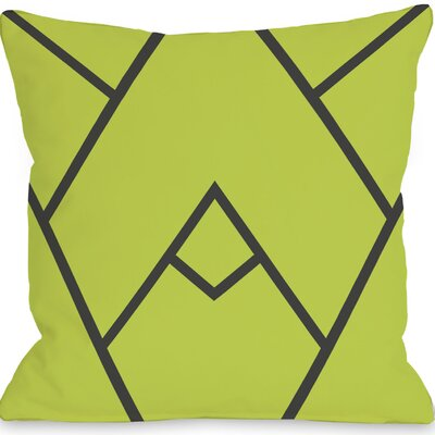 Braiden Indoor/Outdoor Throw Pillow Color: Green, Size: 16 H x 16 W x 3 D