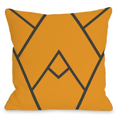 Braiden Indoor/Outdoor Throw Pillow Color: Orange, Size: 18 H x 18 W x 3 D