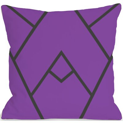 Braiden Indoor/Outdoor Throw Pillow Color: Purple, Size: 16 H x 16 W x 3 D