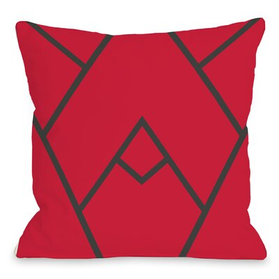 Leonila Indoor/Outdoor Throw Pillow Color: Red, Size: 18 H x 18 W x 3 D