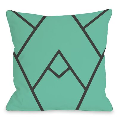 Leonila Indoor/Outdoor Throw Pillow Color: Turquoise, Size: 18 H x 18 W x 3 D