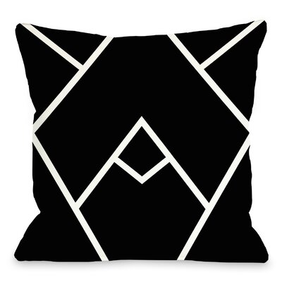 Leonila Indoor/Outdoor Throw Pillow Color: Black White, Size: 18 H x 18 W x 3 D