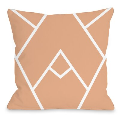 Braiden Indoor/Outdoor Throw Pillow Color: Cantaloupe, Size: 18 H x 18 W x 3 D