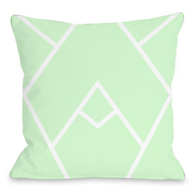 Braiden Indoor/Outdoor Throw Pillow Color: Mint White, Size: 18 H x 18 W x 3 D