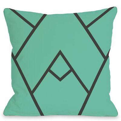 Leonila Polyester Throw Pillow Color: Turquoise, Size: 18