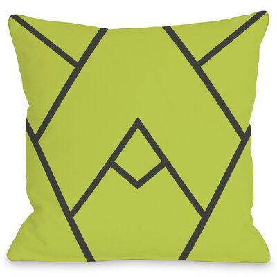 Braiden Polyester Throw Pillow Size: 16 H x 16 W, Color: Green