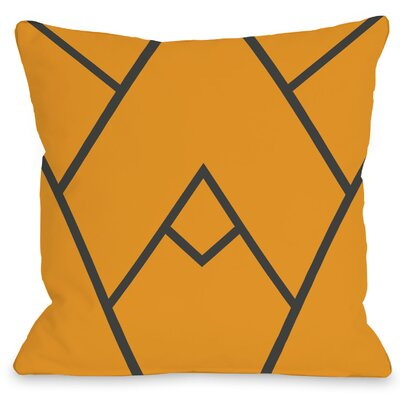 Leonila Polyester Throw Pillow Size: 18 H x 18 W, Color: Orange