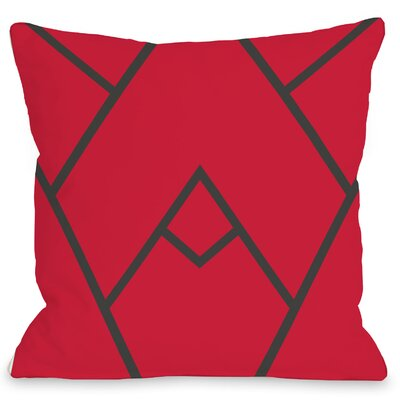 Leonila Polyester Throw Pillow Size: 18 H x 18 W, Color: Red