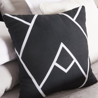 Leonila Polyester Throw Pillow Size: 18 H x 18 W, Color: Black