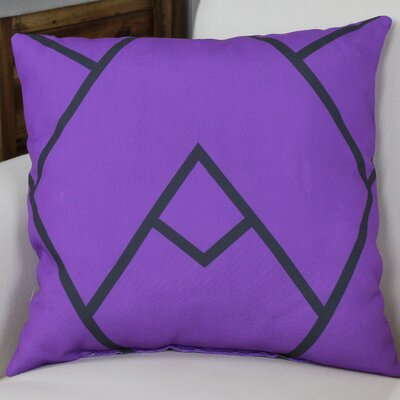 Leonila Polyester Throw Pillow Size: 18 H x 18 W, Color: Purple