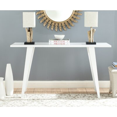 Braley Console Table Finish: White