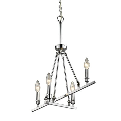 Alica 4-Light Candle-Style Chandelier Finish: Chrome