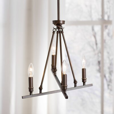 Alica 4-Light Candle-Style Chandelier Finish: Rubbed Bronze