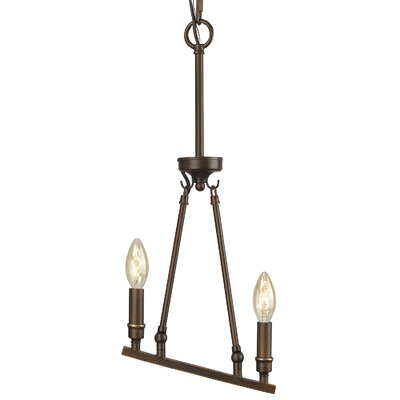 Uman 2-Light Mini Pendant Finish: Rubbed Bronze