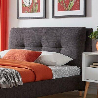 Deemer Upholstered Panel Headboard Upholstery: Dark Gray, Size: King