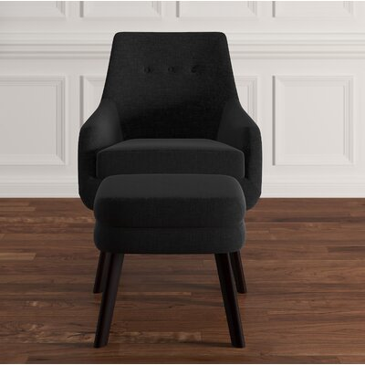 Casson Armchair and Ottoman Upholstery: Dark Gray