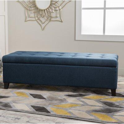 Morrisey Storage Ottoman Upholstery: Dark Blue