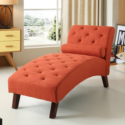 Tiff Traditional Chaise Lounge Finish: Orange