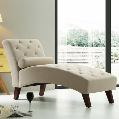 Tiff Traditional Chaise Lounge Finish: Tan
