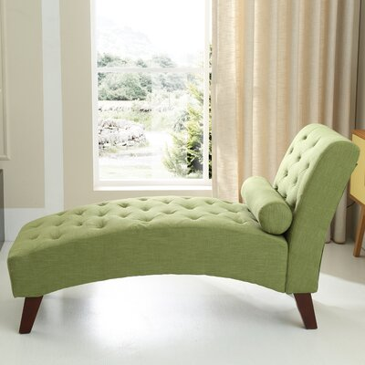 Tiff Traditional Chaise Lounge Finish: Green