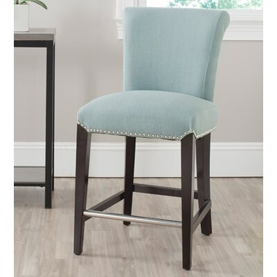 Carrico 24 Bar Stool Upholstery: Blue