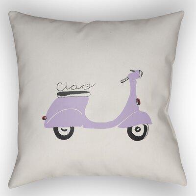 Capasso Indoor/Outdoor Throw Pillow Size: 18 H x 18 W x 4 D, Color: Purple