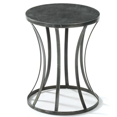 Kyleigh Tin Round End Table