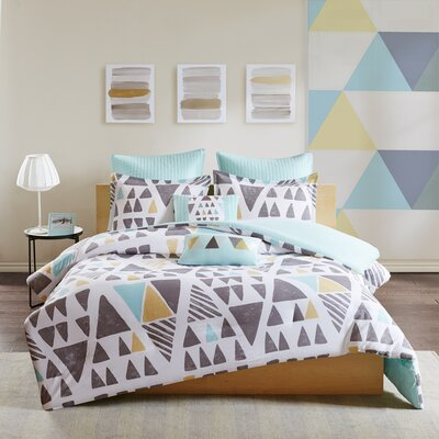 Leonor 7 Piece Cotton Duvet Cover Set Size: King/California King