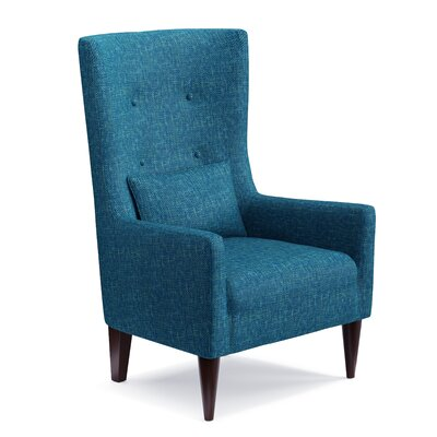 Bristol Shelter High Back Wingback Chair Upholstery: Blue/Green
