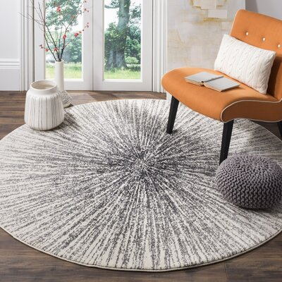 Bayview Black/Ivory Area Rug Rug Size: Runner 22 x 9