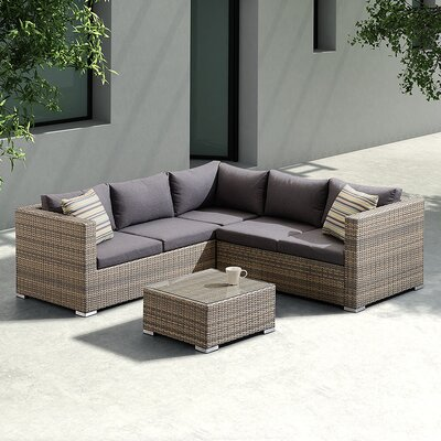 Carberry 3 Piece Sectional Seating Group with Cushion