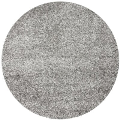 Arce Silver Area Rug Rug Size: Round 67