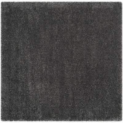 Arce Dark Gray Area Rug Rug Size: Square 67