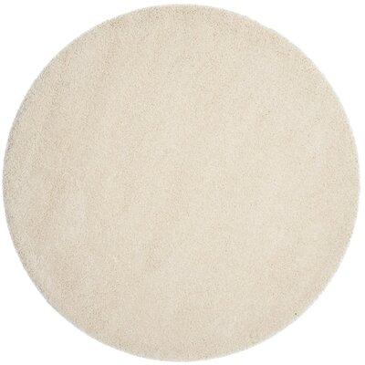 Arce Ivory Area Rug Rug Size: Round 67