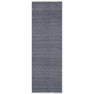 Arbuckle Cotton Navy Area Rug Rug Size: Runner 23 x 9