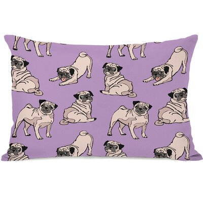 Rectangular Lumbar Pug Pillow