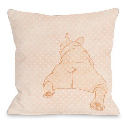 Modern Pug Throw Pillow Size: 18 H x 18 W