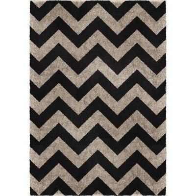Hinckley Gray/Black Area Rug Rug Size: 710 x 106