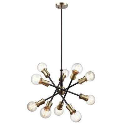 Belk 10-Light Sputnik Chandelier Finish: Oil Rubbed Bronze/Antique Brass