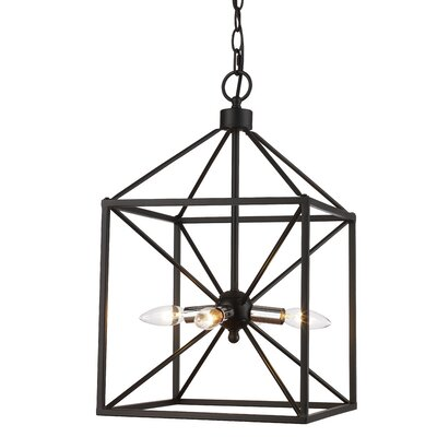 Belisle 4-Light Foyer Pendant Finish: Polished Chrome/Black