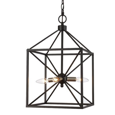Belisle 4-Light Foyer Pendant Finish: Brushed Nickel/Black