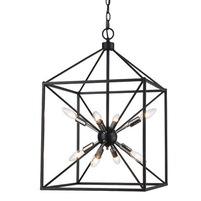 Belisle 8-Light Foyer Pendant Finish: Polished Chrome/Black