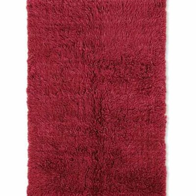 Ransdell Flokati Hand-Woven Red Area Rug Rug Size: Rectangle 7 x 10