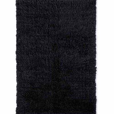 Carrico Flokati Hand-Woven Black Area Rug Rug Size: 3 x 5