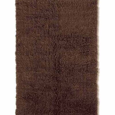Carrico Flokati Hand-Woven Dark Brown Area Rug Rug Size: 4 x 6