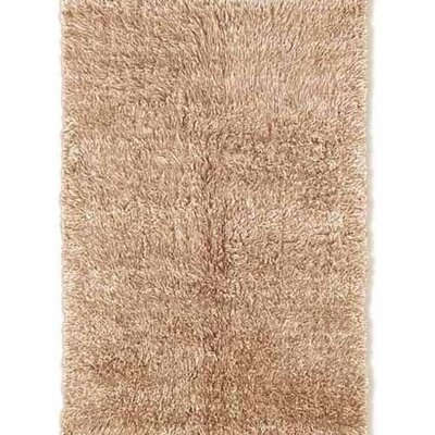 Ransdell Flokati Hand-Woven Neutral Area Rug Rug Size: Rectangle 4 x 6