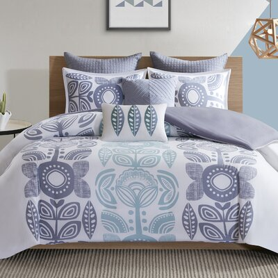 Leora 7 Piece Duvet Set Size: King/California King